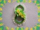 Подарок на 8 Марта Открытка панно 8th of march DIY Tutorial