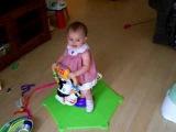 Baby bouncing on Zebra
