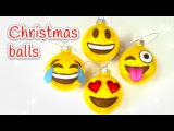 DIY Christmas crafts: EMOJIS christmas balls - Innova Crafts