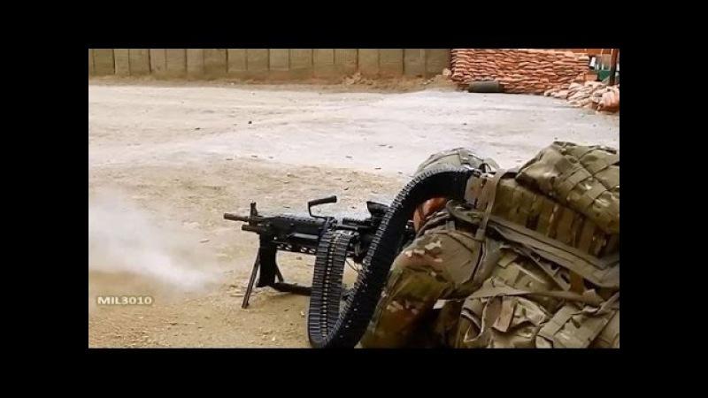 Пулемет Mk 48 с лентой на 500 патронов, калибр 7,62 / Армия США