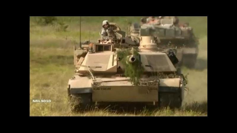 БМП Брэдли и танки M1A2 Абрамс на учениях / Бригада кавалерийской дивизии Армии США