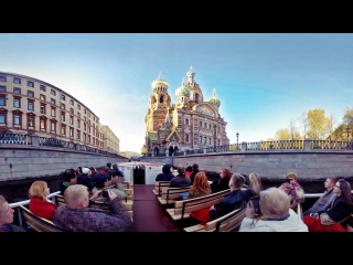 Видео 360° | Экскурсия по рекам и каналам Санкт-Петербурга в видео 360