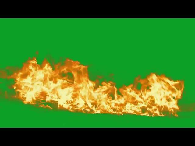 Big Fire Green Screen Torch HD AAE Fire at the Camera