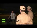 Сирия: РТ журналисты ранен в бою летал домой в Россию.
