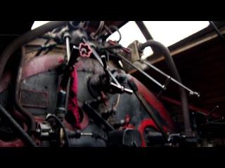 Я в кабине паровоза СО17 (короткое видео с фотоаппарата)