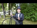 Penny farthing Martin Barnes demonstrates riding techniques