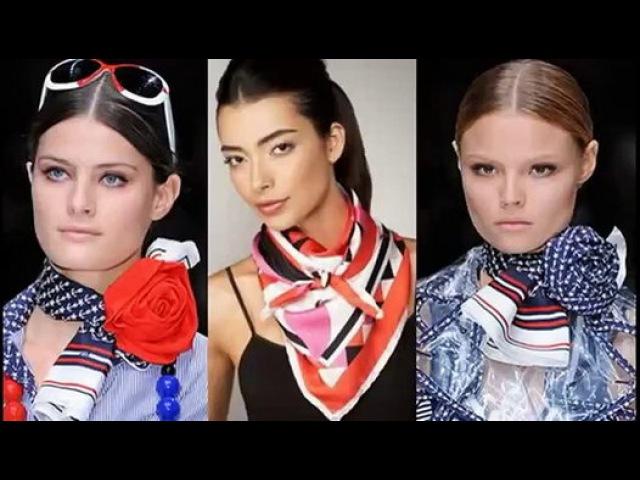 Как завязать шарф или платок на шее разными способами - Видео Dailymotion