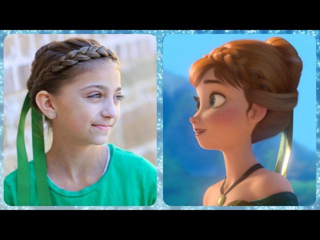 Frozen Inspired Annas Coronation Hairstyle Tutorial   A CuteGirlsHairstyles Disney Exclusive
