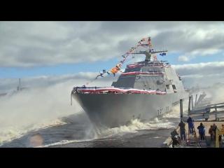 Спуск НАТОвской «коробки» по наклонному слипу