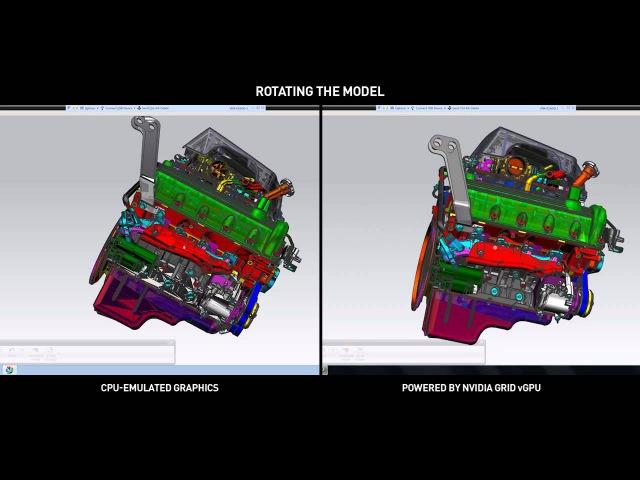 NVIDIA GRID vGPU vs. CPU Only - Siemens NX Horizon View with VMware Horizon vSphere
