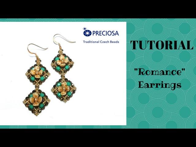 Tutorial perline: orecchini Romance con le pip | beading tutorial: Romance earrings