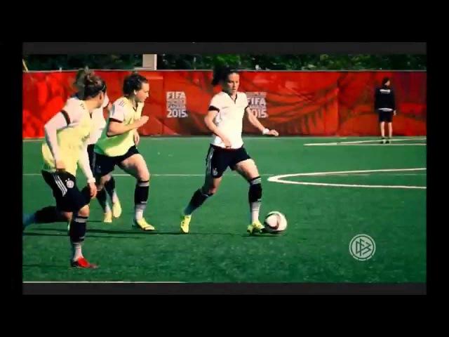 DFB-TV: Trainingsimpressionen (DFB-Frauen) Titeltraum