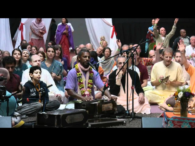 Kirtan Mela Nama Yagna with H.G. Madhava Prabhu Chanting in a Helpless Mood 31.08.2011 in Germany