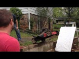 Paint can lawn mower explosion: Arts and Crafts with Uncle Rob