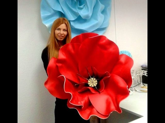 Мастер класс- большие цветы из изолона( фоамирана).How to Make GIANT Tissue Paper