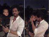 ShahRukh Khan poses with Yusuf Pathans cute son