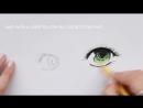 How To Draw Anime Eyes | Рисуем цветные глаза в стиле манга