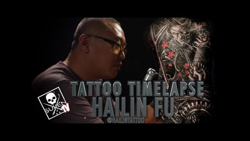Tattoo Time Lapse - Hailin Fu (3 Day Back Piece)