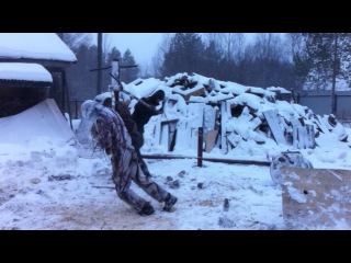 Монтаж винтовых свай зимой