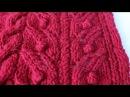 Вязание спицами Ажурный колосок с шишечками