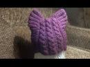 Как связать шапочку Кошачьи Ушки для ребенка спицами