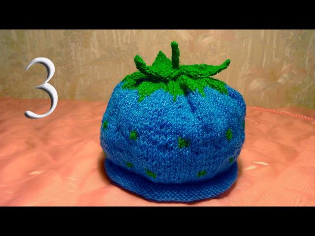 Как связать детскую шапку Ежевика спицами для мальчика 3