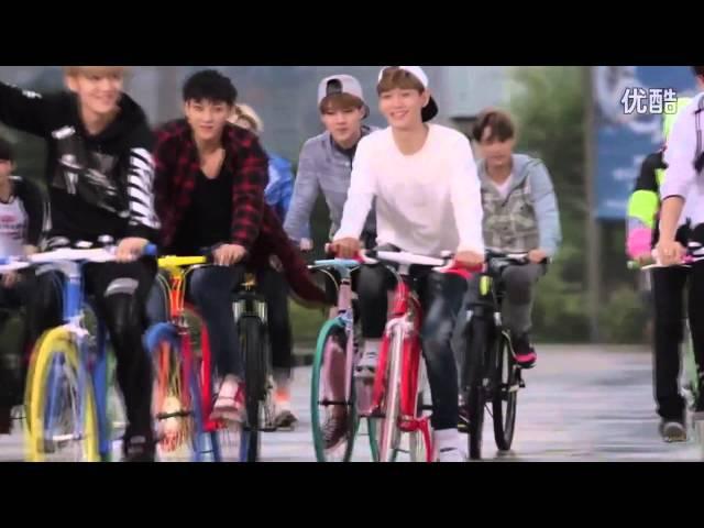 [HD] 140910 EXO AIMA Bicycle CF Photoshoot BTS Making Film
