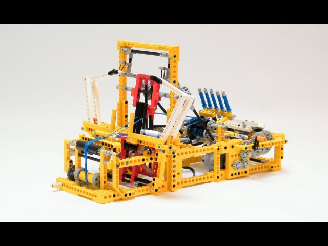 Lego Technic - Small Mechanical Loom By Nico71