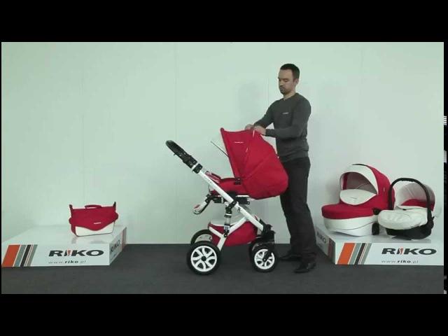 Универсальная детская коляска Riko Brano Ecco (Рико Брано Эко) 3 в 1 с красивым рисунком жакард
