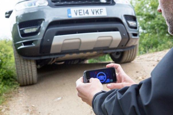 Land Rover показала прототип внедорожника Range Rover Sport с дистанционным управлением посредством смартфона