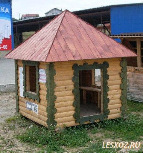 Домик из дерева для детской площадки своими руками фото