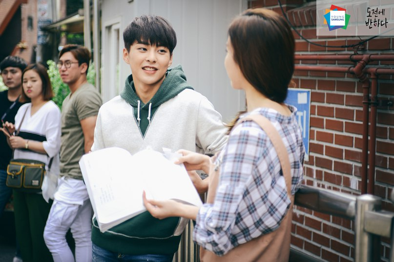 """[HQ] 151130 #EXO #Xiumin @ Young Samsung Blog Update:  За кадром съемки дорамы """"Влюбиться в На Дочона""""."""