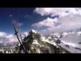 Paragliding above Weisshorn and Dent Blanche - Cret du Midi