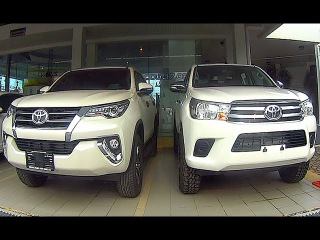 New Toyota Hilux Revo 2015-2016 VS Toyota Fortuner 2015-2016, Interior, Exterior, Engine