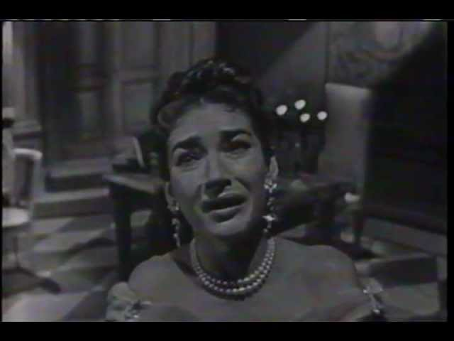 MARIA CALLAS sings Vissi Darte on November 25, 1956