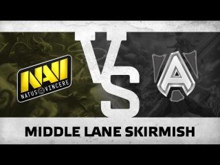 Middle lane skirmish by Na'Vi vs Alliance  DHS 2015