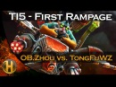 Dota 2 TI5 vs OD Zhou First Rampage in TI5 History