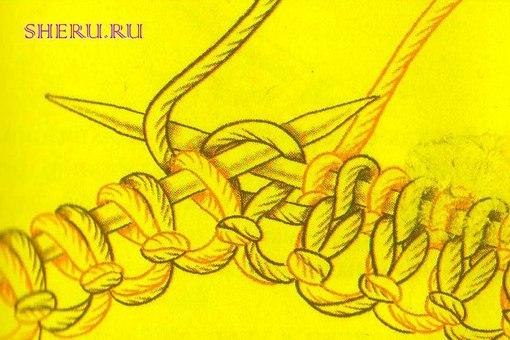 Двустороннее вязание спицами
