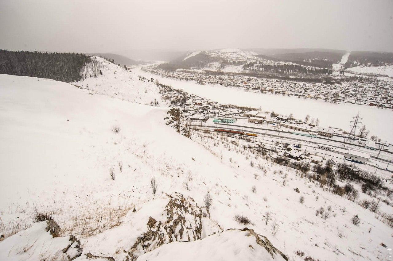Вид на долину реки Чусовой с Балкона