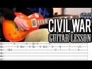 Guns N'Roses - Civil War FULL Guitar Lesson (With Tabs)