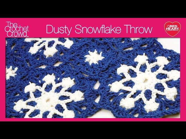 Crochet Dusty Snowflake Afghan