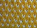 Узор Настил Двухцветные соты Вязание