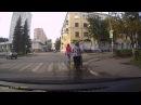 Байкер сбивает детей г Воскресенск