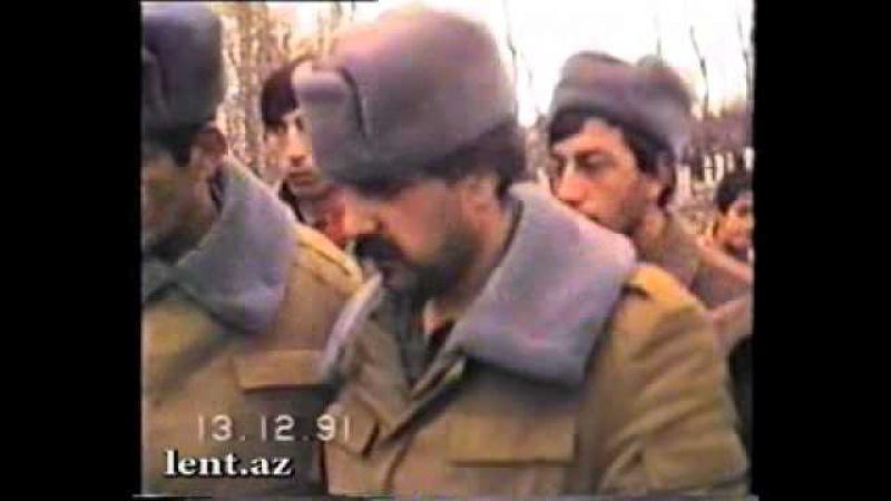 Milli Ordumuzun ilk Shehidi Elbrus Haciyevin defni