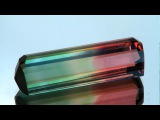 Tri-color tourmaline from Madagascar weighs 23.67 carats.