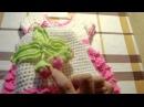 Шапочка с клубничками для девочки