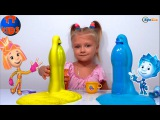 ✔ Фиксики и девочка Ярослава создают вулканы в ФиксиЛаборатории. Новые Опыты / Видео для детей ✔