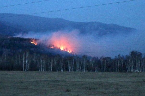 В Бурятии загорелись леса