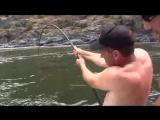 Неожиданный улов, Осетр в 3 метра на спиннинг