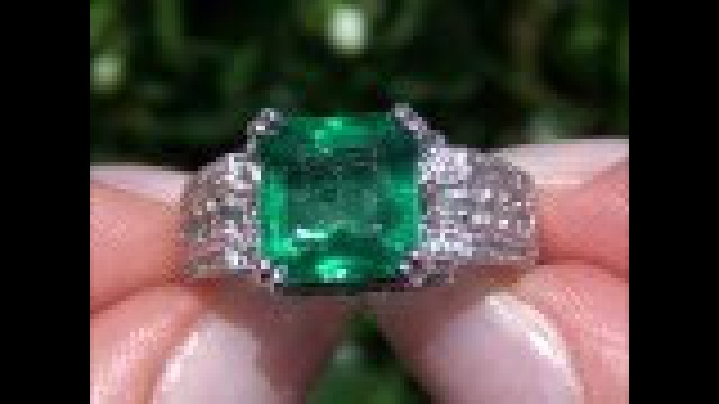 Certified Muzo Mined Colombian Emerald Diamond Ring Solid 14K White Gold